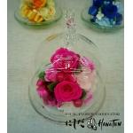 ガラスのドーム プリザーブドフラワーアレンジメント(ピンク)