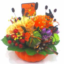 《Halloween arrangement》Pumpkin Fruit